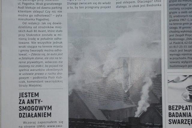 O Smogu w Tygodniku Swarzędzkim